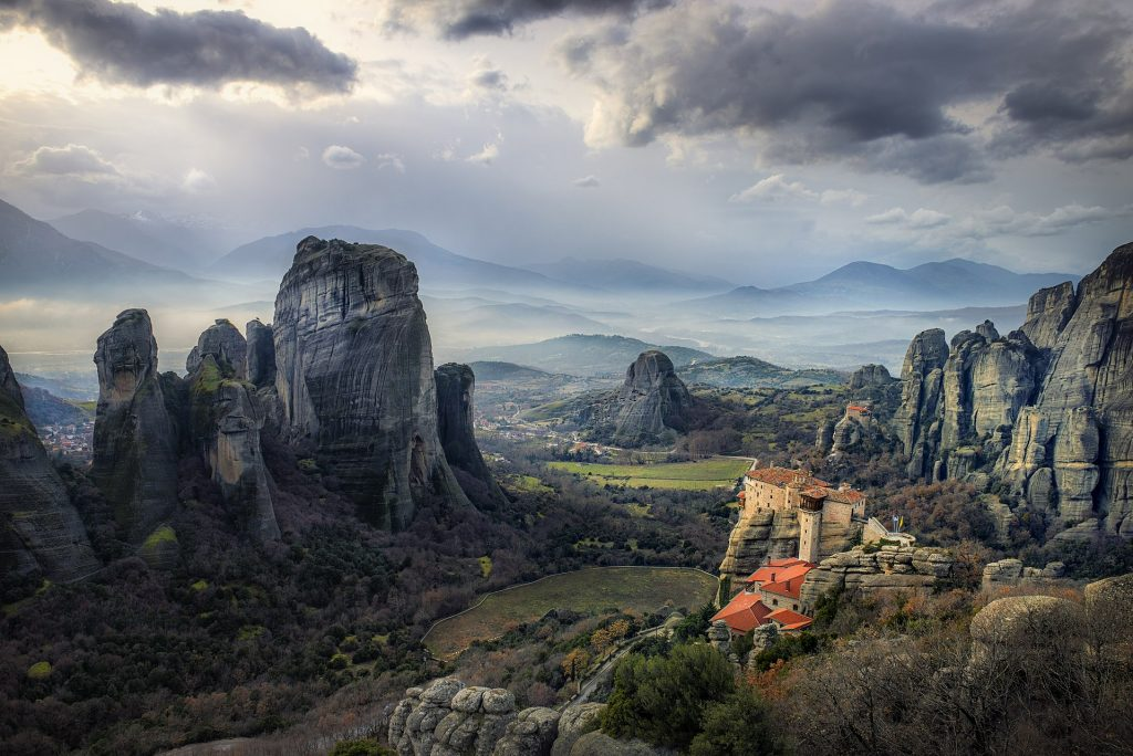 Meteora Monasteries, lunch and wine